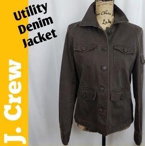 J.CREW Womans Denim Utility/Cargo Jacket